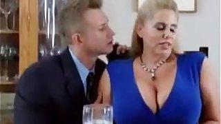 Big boobs stepmom seduced by son for sex