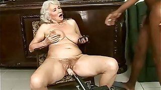 Interracial granny fuck