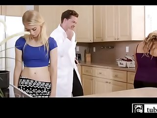 Dirty Stepdad Mind Controlling Mom and Daughter to Suck his Big Dick